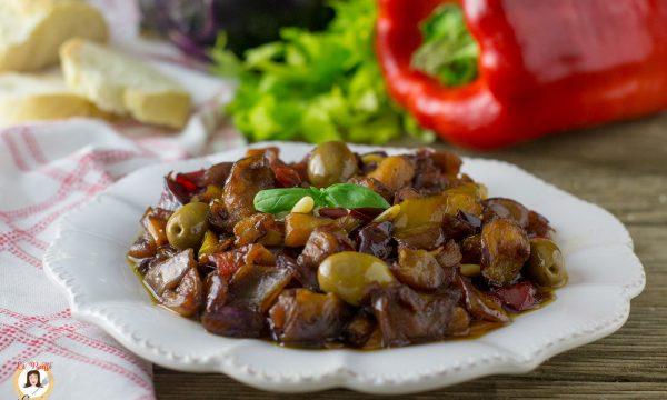 Caponata di peperoni e melanzane in agrodolce – Ricetta Siciliana