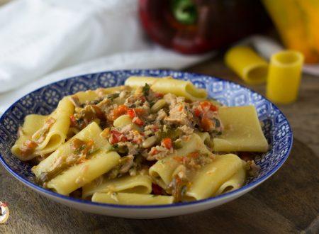 Pasta tonno e peperoni in bianco – Ricetta facile