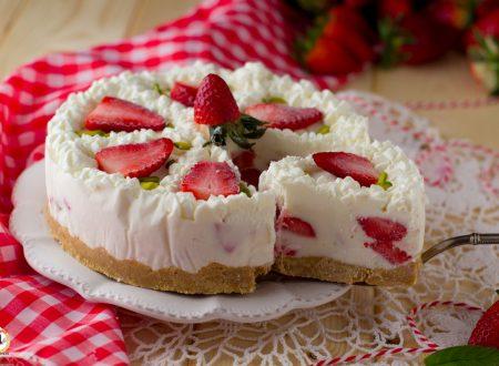 Torta Cuor di fragola e panna – Anche Bimby Dolce Freddo Senza cottura