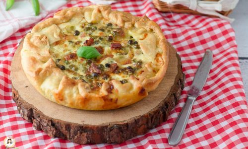 Torta salata piselli e pancetta - Anche Bimby Ricetta con pasta sfoglia