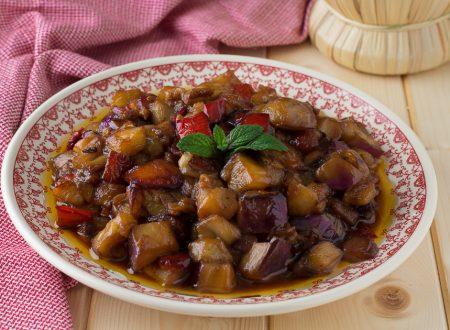 Melanzane e peperoni in agrodolce – Cotti in padella
