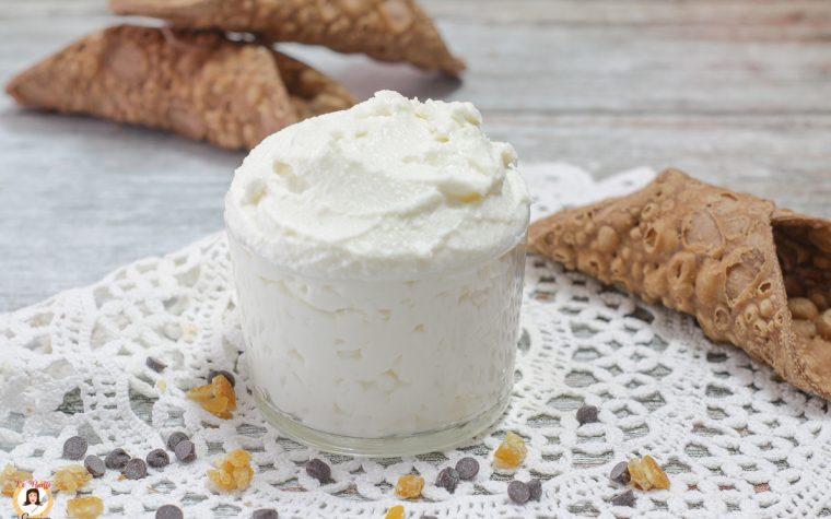 Crema di ricotta siciliana - Anche Bimby -Ricetta classica Per cannoli, cassate o torte