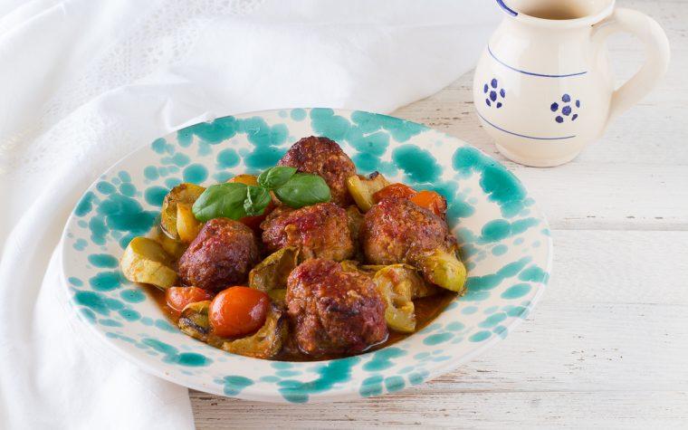 Polpette con zucchine al forno - Anche Bimby