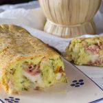 Rotolo di zucchine e patate filante - Con Video ricetta