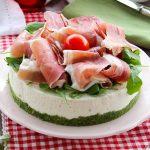 Cheesecake Salata con prosciutto crudo e rucola - Anche Bimby