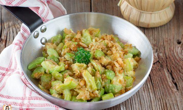 Zucchine gratinate in padella – Zucchine ammollicate alla Siciliana