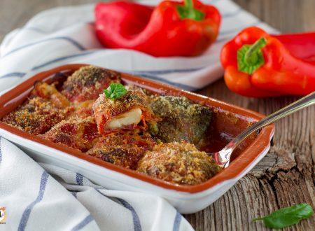 Involtini di peperoni alla Siciliana – Peperoni ripieni ammolicati
