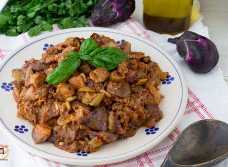 Caponata di pesce spada e melanzane- Ricetta Siciliana