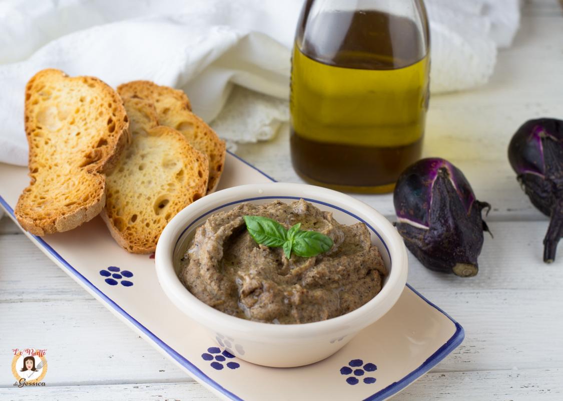 Crema Di Melanzane Per Crostini O Bruschette Cotta In Padella Ricetta Anche Bimby