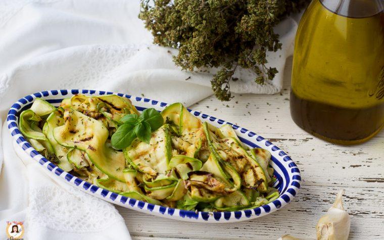 Zucchine grigliate condite alla Siciliana
