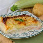 Parmigiana bianca di zucchine e patate crude - Ricetta veloce