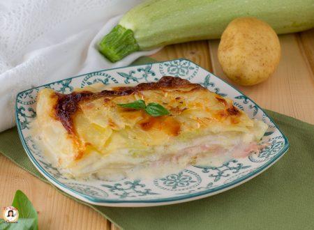 Parmigiana bianca di zucchine e patate crude – Ricetta veloce