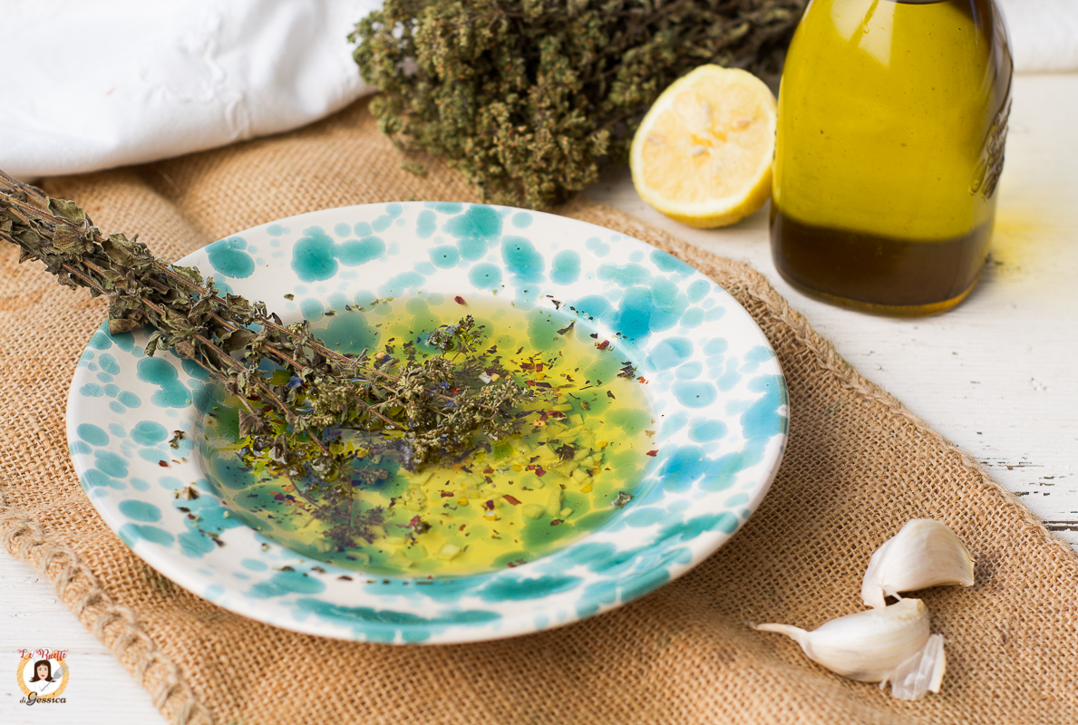 SALMORIGLIO siciliano per carne, pesce o verdure cotte alla griglia Ricetta salsa