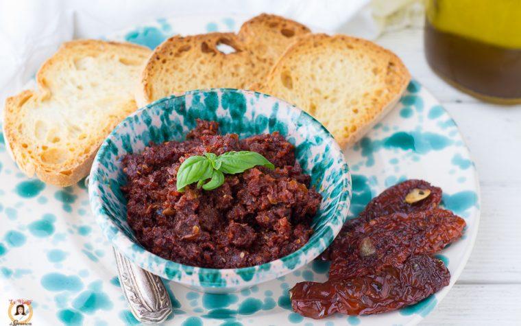 Crema di pomodori secchi e nduja per crostini o bruschette - Anche Bimby