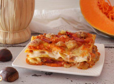 Lasagne zucca speck e castagne – Con e senza besciamella