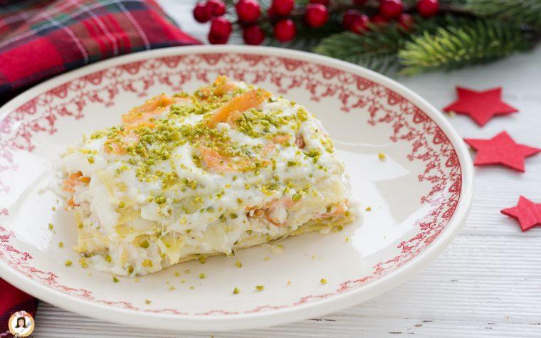 Lasagne al salmone e pistacchi con ricotta