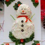 Antipasto Pupazzo di neve - Ricetta Natalizia sfiziosa