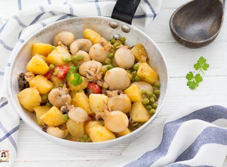 Seppie con piselli e patate in umido