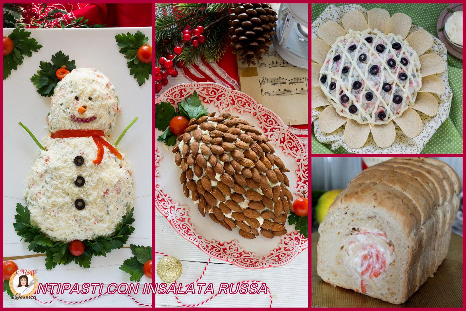 Antipasti Di Natale Insalata Russa.Antipasti Con Insalata Russa Ricette Contorno E Centrotavola Di Natale