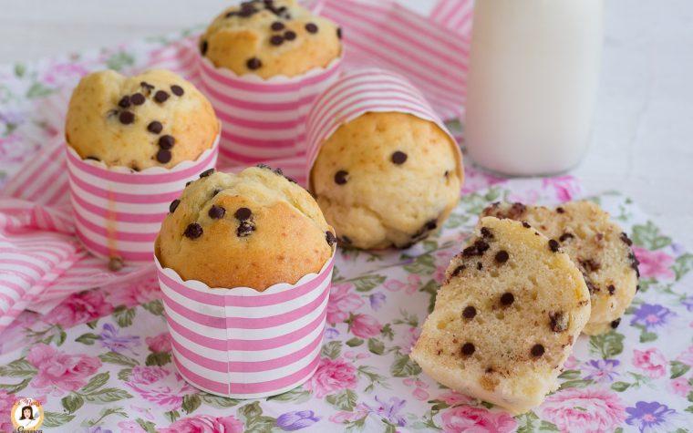 Muffin con gocce di cioccolato senza burro - Anche Bimby