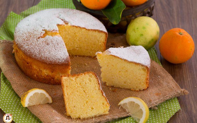 Torta arancia e limone senza burro - Anche Bimby