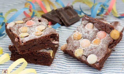 Brownies al cioccolato con Smarties