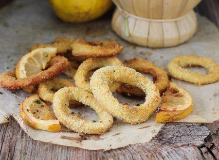 Anelli di calamari al forno gratinati