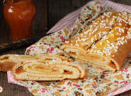 Rotolo di pasta frolla senza burro ripieno di marmellata – Crostata Arrotolata