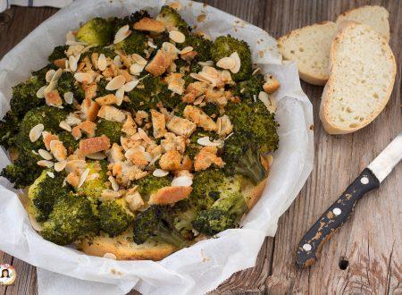 Tortino di pane e broccoli al forno