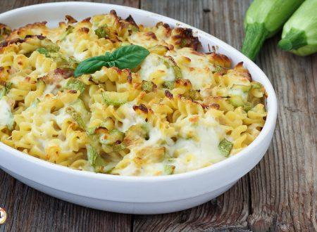 Pasta al forno con zucchine e mozzarella – Primo piatto facile