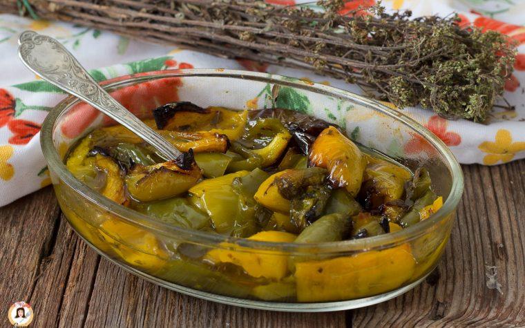 Peperoni in agrodolce cotti al forno - Contorno facile
