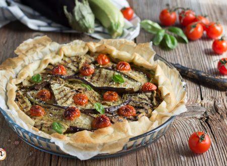 Torta salata con verdure grigliate -  Ricetta con pasta sfoglia