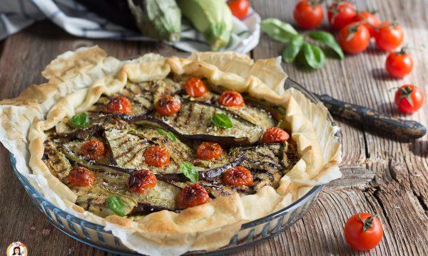Torta salata con verdure grigliate –  Ricetta con pasta sfoglia