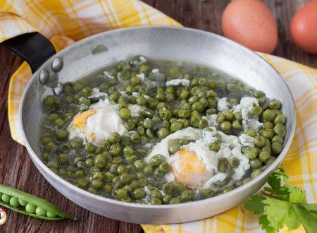 Uova con piselli in umido – Secondo piatto Siciliano con contorno