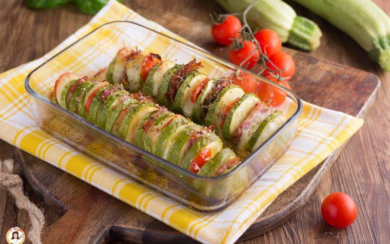 Zucchine a fisarmonica ripiene e filanti - Secondo piatto al forno