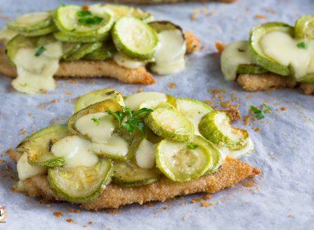 Cotolette di pollo con zucchine filanti – Secondo piatto cotto al forno con TRUCCO