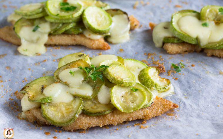 Cotolette di pollo con zucchine filanti - Secondo piatto cotto al forno con TRUCCO