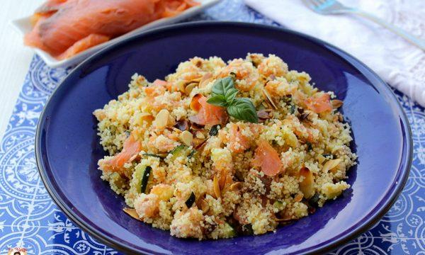 Cous cous zucchine e salmone – Primo piatto freddo