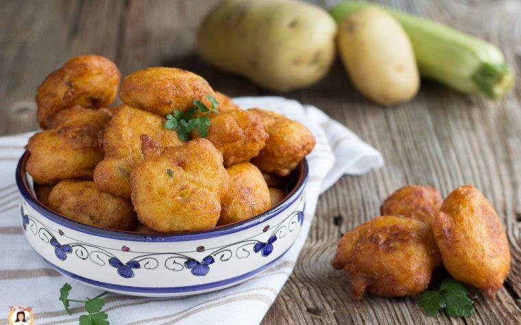 Frittelle di patate e zucchine - polpette soffici, Secondo piatto facile