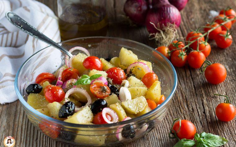 Insalata Pantesca con patate - Secondo piatto Siciliano