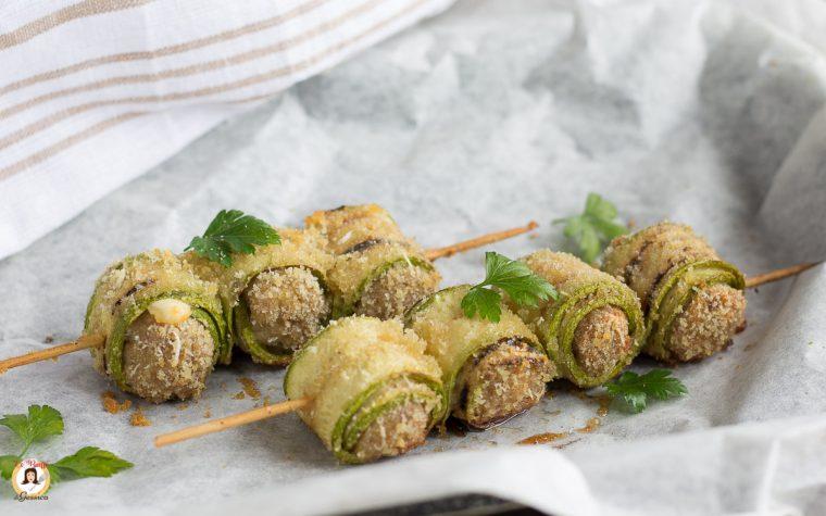 Involtini di zucchine ripieni di carne - Secondo piatto