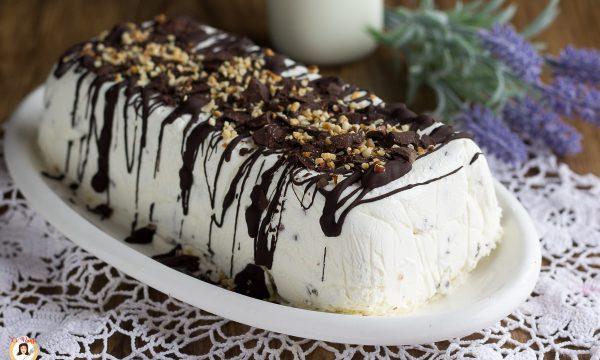 Torta gelato panna e cioccolato – Tipo Viennetta, ricetta facile senza gelatiera