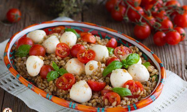 Insalata di farro Caprese – Primo piatto o antipasto freddo