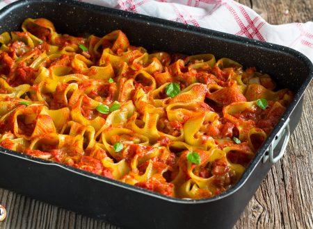 Lumaconi di pasta al forno ripieni di verdure – Primo piatto