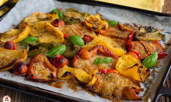 Peperoni gratinati al forno – Contorno con panatura speciale