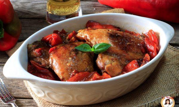 Pollo al forno con peperoni – Secondo piatto gustoso