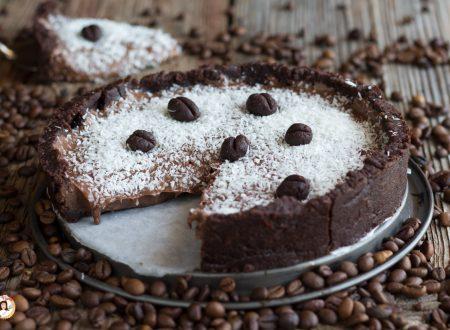 Torta fredda senza cottura con Nutella, cocco e yogurt