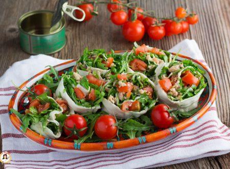 Girelle di mozzarella ripiene di tonno e rucola – Antipasto o Secondo piatto freddo