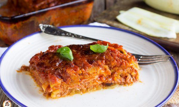 Lasagne di zucchine – Pasticcio cotto al forno senza pasta