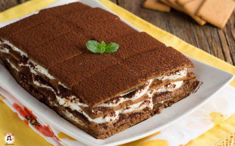 Mattonella di biscotti alla ricotta - Torta senza cottura